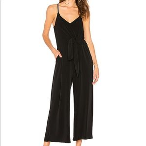 1 State black jumpsuit